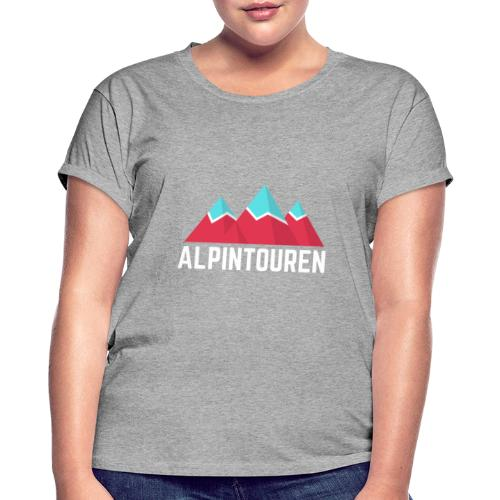 Alpintouren Logo - Frauen Oversize T-Shirt
