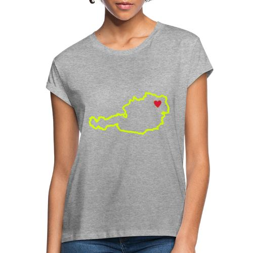Ein Herz für Österreich - Frauen Oversize T-Shirt