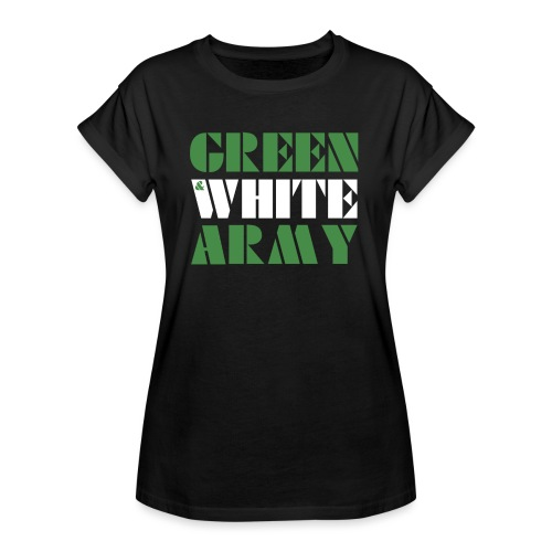 GREEN & WHITE ARMY - Women's Oversize T-Shirt