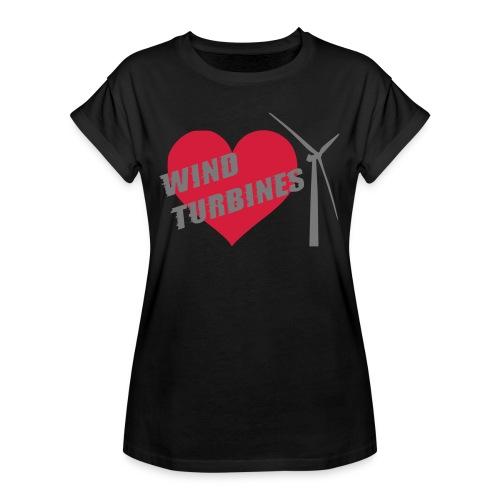 wind turbine grey - Women's Oversize T-Shirt