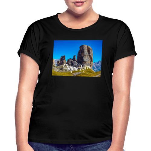 Cinque Torri - Frauen Oversize T-Shirt