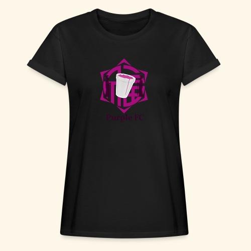 PURPLE FC - Camiseta holgada de mujer