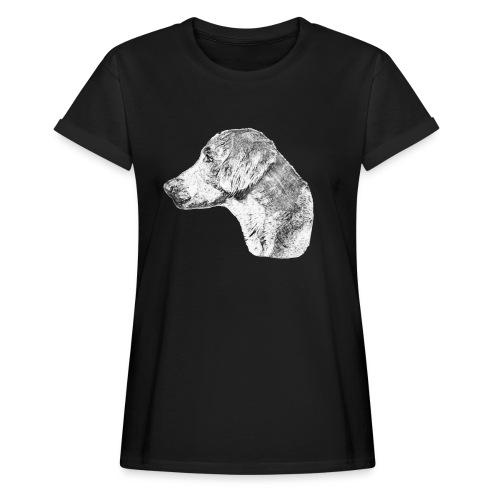 Langhaar Weimaraner - Frauen Oversize T-Shirt