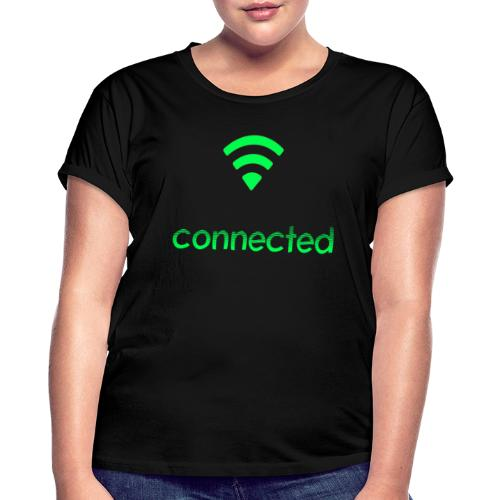 connected grün, Wifi - Frauen Oversize T-Shirt