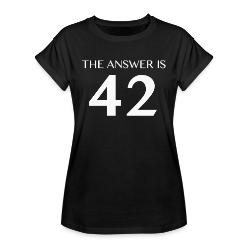 The Answer is 42 White - Women's Oversize T-Shirt
