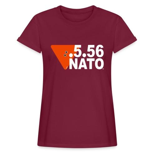 .5.56 NATO BLANC - T-shirt oversize Femme