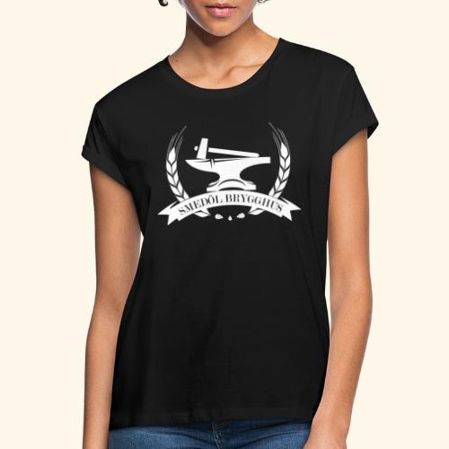 Smedöl Brygghus Logga Vit - Oversize-T-shirt dam