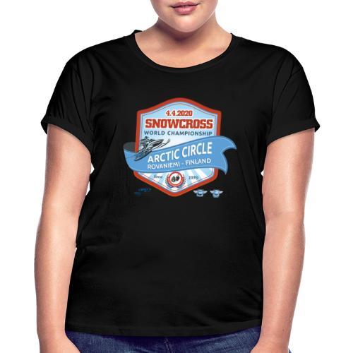 MM Snowcross 2020 virallinen fanituote - Naisten oversized-t-paita