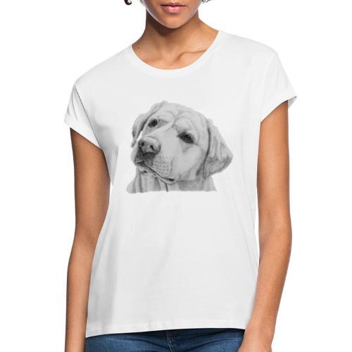 labrador retriever yellow - head - Dame oversize T-shirt