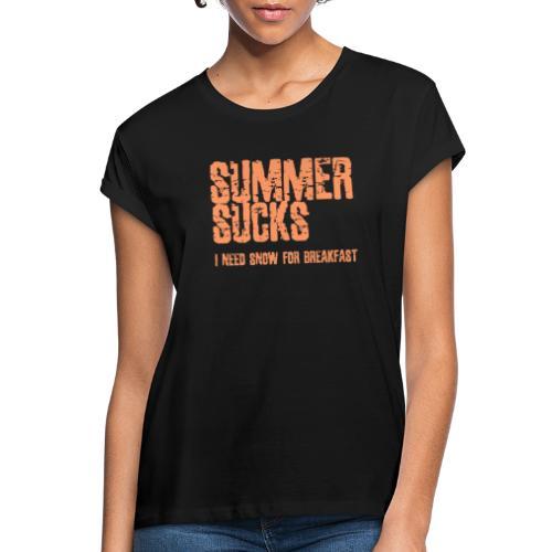 SUMMER SUCKS - Vrouwen oversize T-shirt