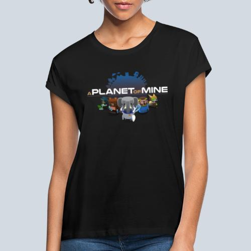 logo planetofmine dark HD - T-shirt oversize Femme