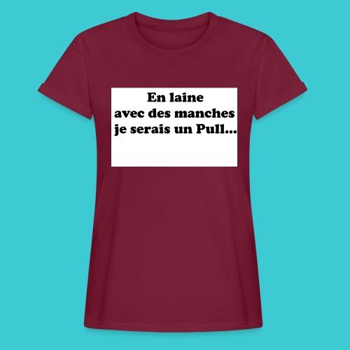 t-shirt humour - T-shirt oversize Femme