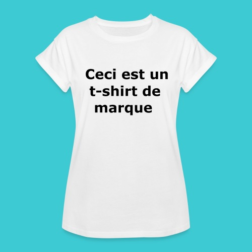 t-shirt2 - T-shirt oversize Femme
