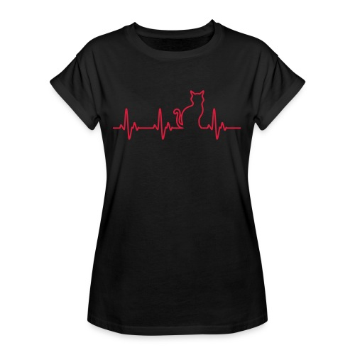 Vorschau: Ein Herz für Katzen - Frauen Oversize T-Shirt
