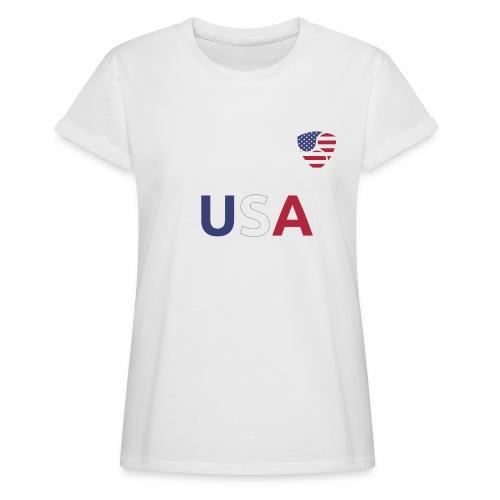 NEM USA white - Maglietta ampia da donna