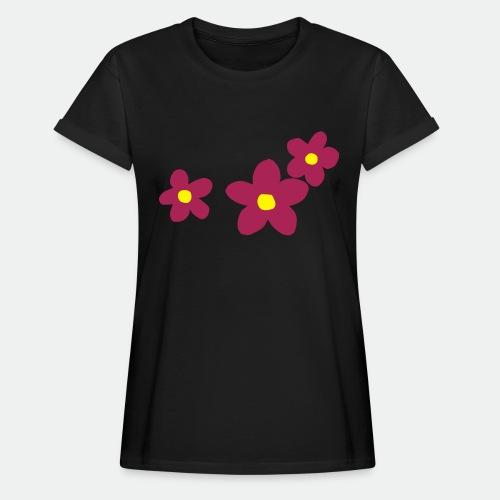 Three Flowers - Women's Oversize T-Shirt