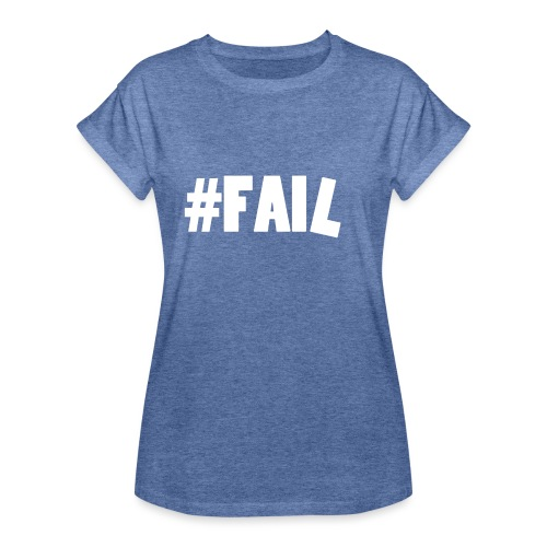 FAIL / White - T-shirt oversize Femme