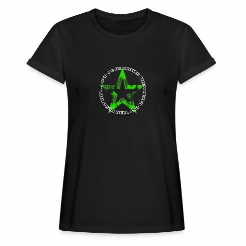 ra star slogan slime png - Frauen Oversize T-Shirt