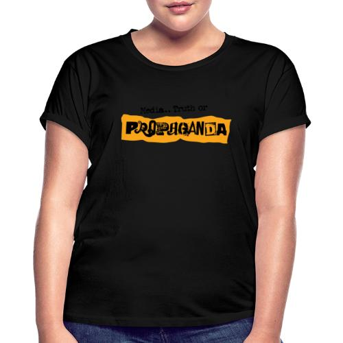 Propaganda light fabric - Oversize T-skjorte for kvinner