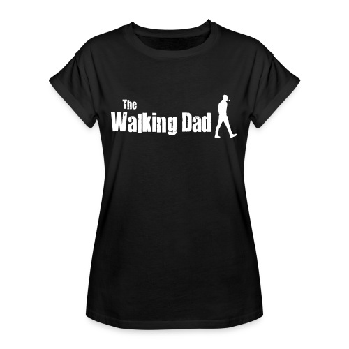 the walking dad white text on black - Women's Oversize T-Shirt