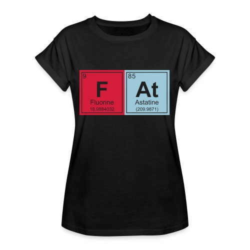 Geeky Fat Periodic Elements - Women's Oversize T-Shirt