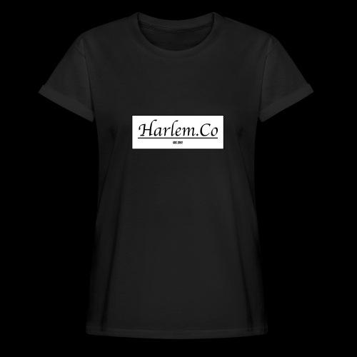 Harlem Co logo White and Black - Women's Oversize T-Shirt
