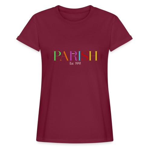 Jessica Parish Color-Schriftzug white - Frauen Oversize T-Shirt