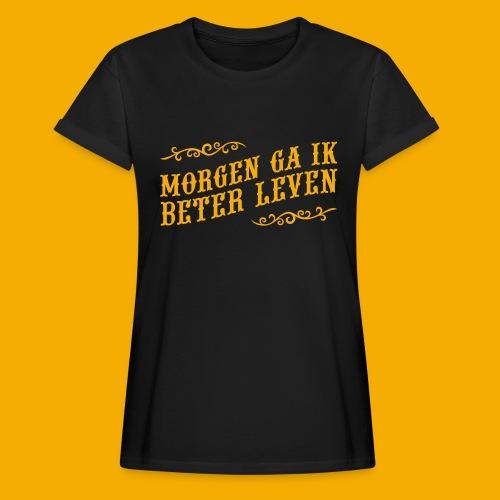 tshirt yllw 01 - Vrouwen oversize T-shirt