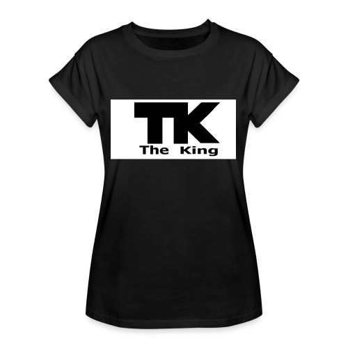 The King med ram - Oversize-T-shirt dam