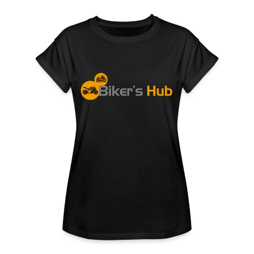 Biker's Hub Small Logo - Women's Oversize T-Shirt