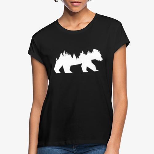 Bear Wald - Frauen Oversize T-Shirt