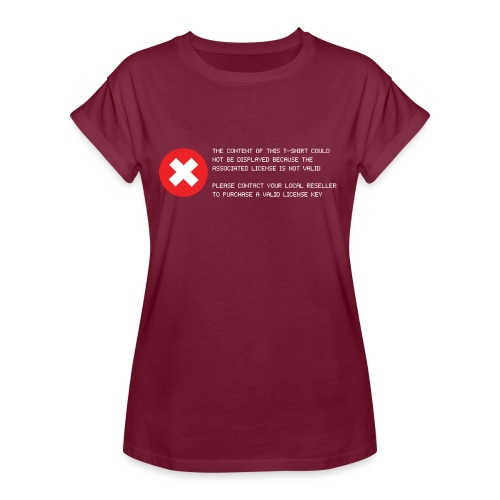 T-shirt Error - Maglietta ampia da donna
