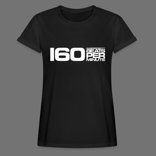 160 BPM (valkoinen pitkä) - Naisten oversized-t-paita