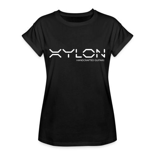 Xylon Handcrafted Guitars (name only logo white) - Women's Oversize T-Shirt