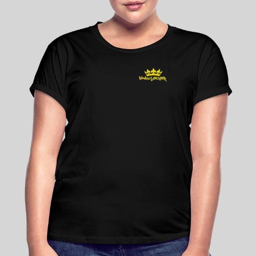 Königstochter m. Krone über der stylischen Schrift - Frauen Oversize T-Shirt