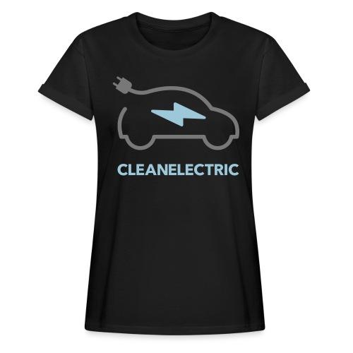 CLEANELECTRIC Logo - Frauen Oversize T-Shirt