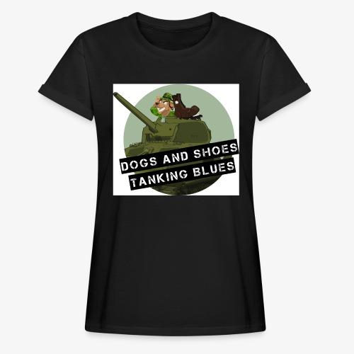 logo dogs nieuw - Vrouwen oversize T-shirt