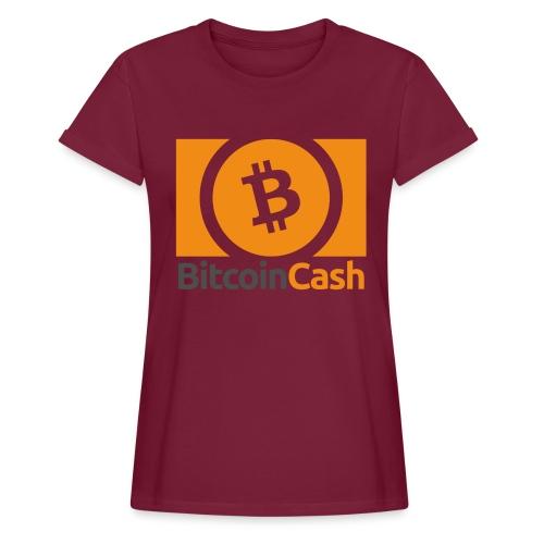 Bitcoin Cash - Naisten oversized-t-paita