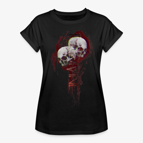 FlameSkull - Vrouwen oversize T-shirt