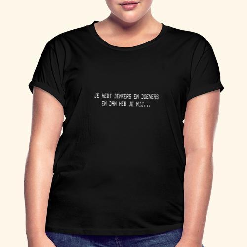 DENKERS EN DOENERS WIT2 png - Women's Oversize T-Shirt