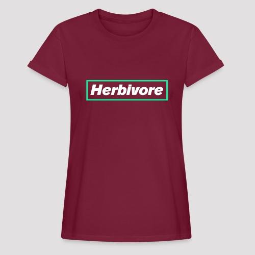 Herbivore Logo White - Maglietta ampia da donna