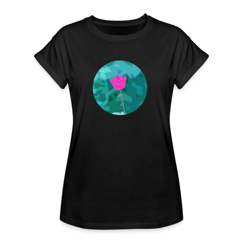 Flower power - Vrouwen oversize T-shirt