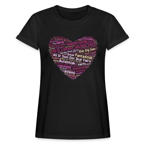 Hjerte - Dame oversize T-shirt