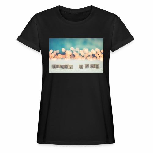 Merry Christmas - Dame oversize T-shirt