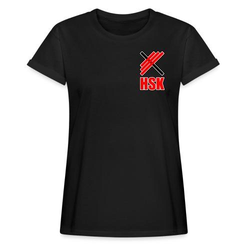 Huddinge styrkelyftklubb 2 logotyper - Oversize-T-shirt dam