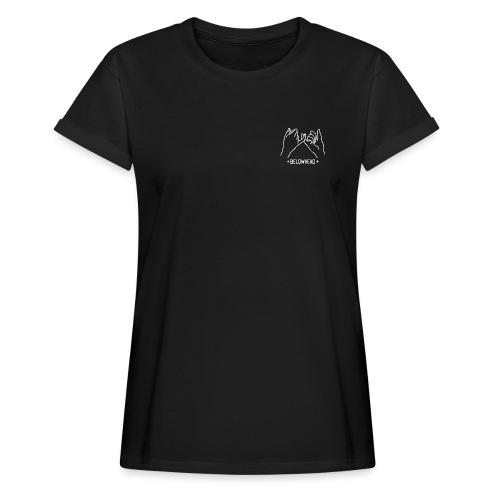 finger weiß - Frauen Oversize T-Shirt
