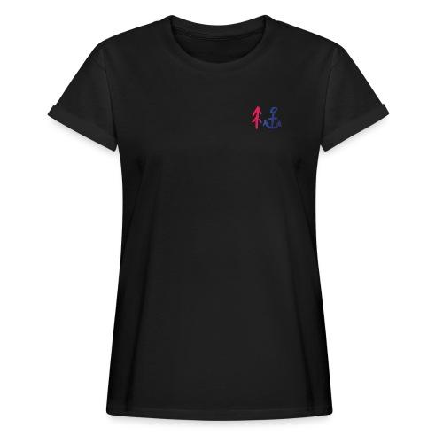 Red to Blue - Frauen Oversize T-Shirt