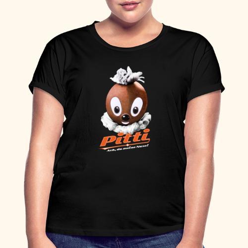 Pittiplatsch 3D Ach, du meine Nase auf dunkel - Frauen Oversize T-Shirt