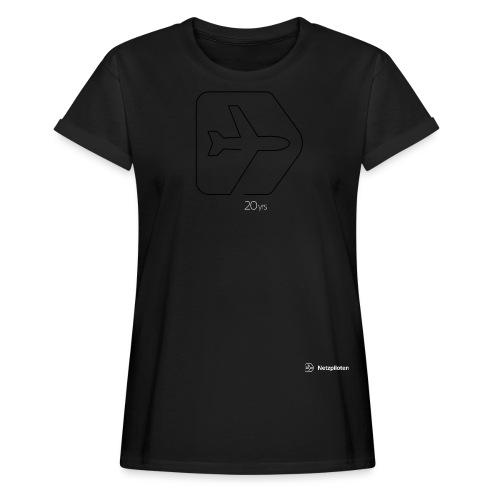 Netzpiloten Logo weiss - Frauen Oversize T-Shirt