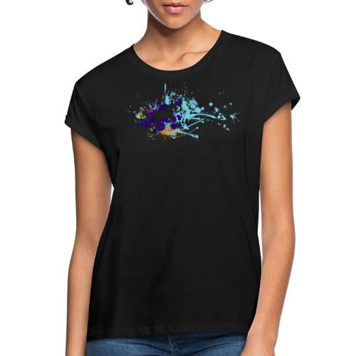 Galopp Klecks - Frauen Oversize T-Shirt